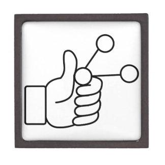 Thumbs Up Like Shared Link Icon Keepsake Box