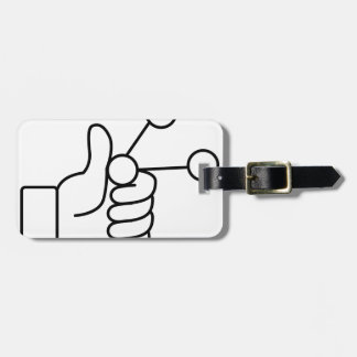 Thumbs Up Like Shared Link Icon Tag For Luggage