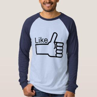 Thumbs Up Like T Shirt