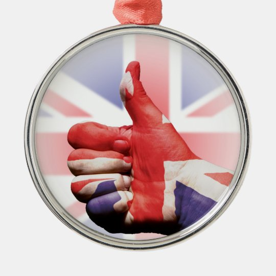 Thumbs up! metal ornament