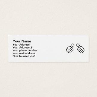 Thumbs up mini business card
