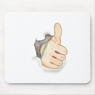 Thumbs up mouse mat