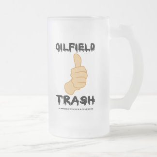 Thumbs Up,Oilfield Trash,Beer Glass,Oil 16 Oz Frosted Glass Beer Mug