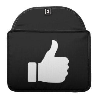 Thumbs Up Pictogram MacBook Pro Sleeve