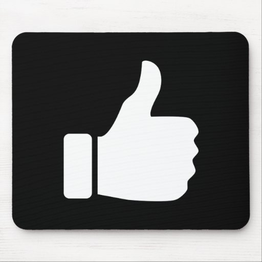 Thumbs Up Pictogram Mousepad