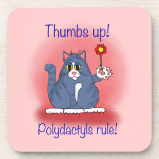 Thumbs up! Polydactyls Rule! Coaster