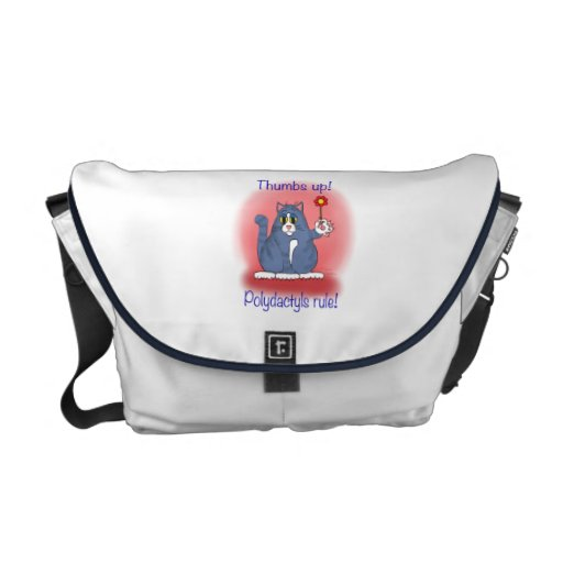 Thumbs Up! Polydactyls Rule! Messenger Bag