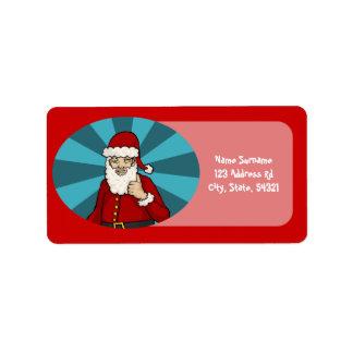 Thumbs Up, Santa - address label