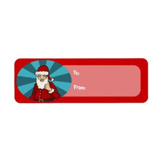 Thumbs Up, Santa - gift tag stickers Custom Return Address Label