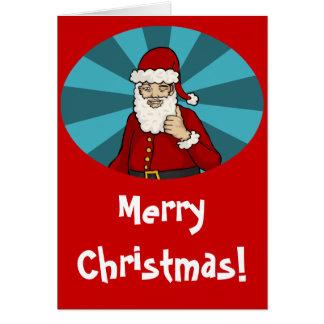 Thumbs Up, Santa - greeting card