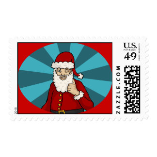 Thumbs Up, Santa - Postage Stamp
