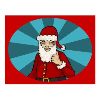 Thumbs Up, Santa - postcard