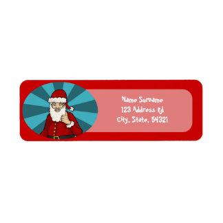 Thumbs Up, Santa - return address labels
