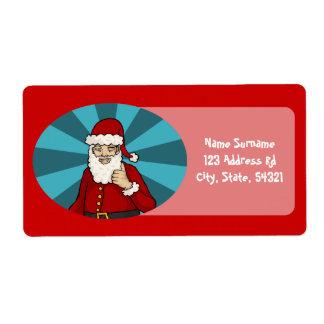 Thumbs Up, Santa -  shipping labels