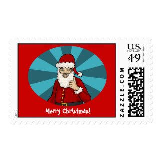 Thumbs Up, Santa - Stamp