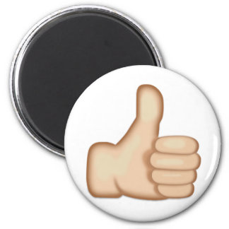 Thumbs Up Sign Emoji 2 Inch Round Magnet
