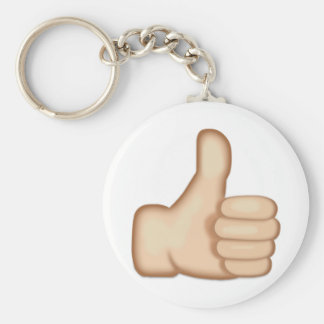 Thumbs Up Sign Emoji Basic Round Button Keychain