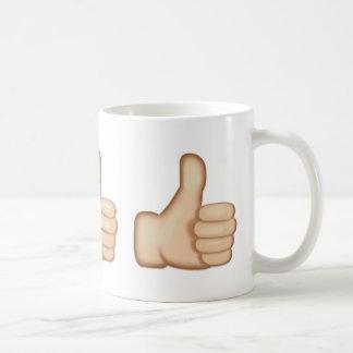 Thumbs Up Sign Emoji Coffee Mug