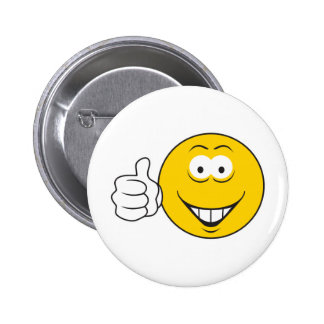 Thumbs Up Smiley Face 2 Inch Round Button