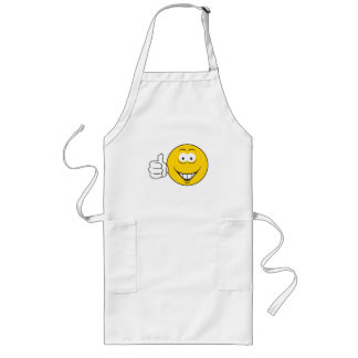 Thumbs Up Smiley Face Long Apron