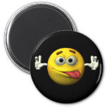 Thumbs Up Smiley Face character 2 Inch Round Magnet
