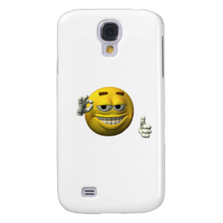 Thumbs Up Smiley Face character Galaxy S4 Case