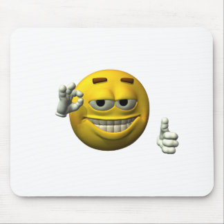 Thumbs Up Smiley Face character Mouse Pad
