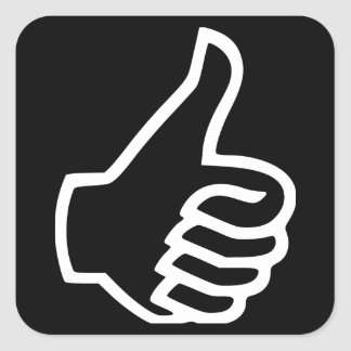 Thumbs Up Square Sticker