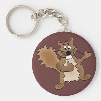 Thumbs Up Squirrel Basic Round Button Keychain
