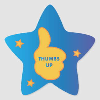 Thumbs Up Star Stickers