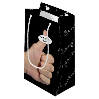 Thumbs Up Sticker on thumb Small Gift Bag