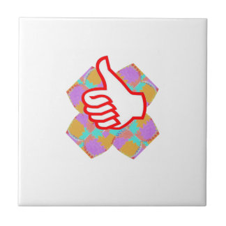 THUMBS UP .. use the STICKERs in QC for GIFT items Ceramic Tile