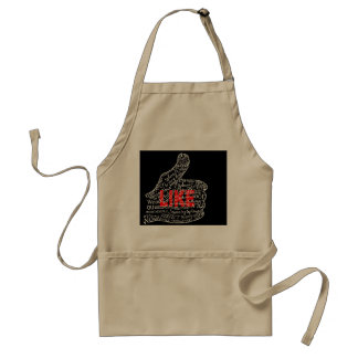 Thumbs up with LIKE text design Adult Apron