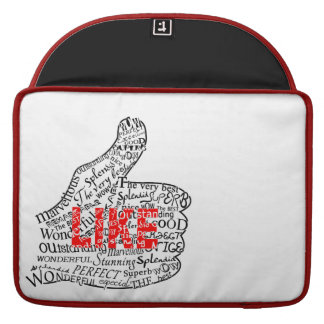 Thumbs up with LIKE text design MacBook Pro Sleeve
