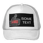 Thumbs up with LIKE text design Trucker Hats