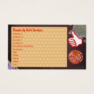 THUMBSUP Thumbs Up Hearts Native Art Emblem Business Card