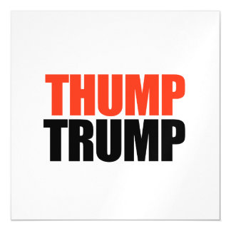 Thump Trump Magnetic Card