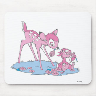 Thumper and Bambi Eating Fruit Mouse Pad