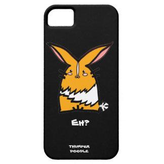 Thumper Doodle Black iPhone Case (Yellow Dutch)