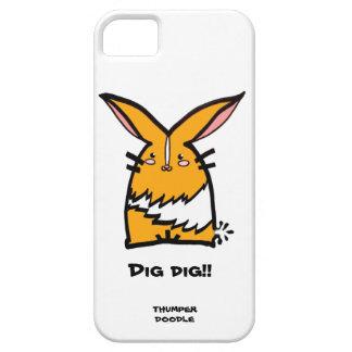 Thumper Doodle iPhone Case (Yellow Dutch)