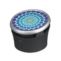 Thumping Music Beats Blue Circle Dot Pattern Speaker