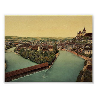 Thun and Aare River, Bernese Oberland, Switzerland Poster