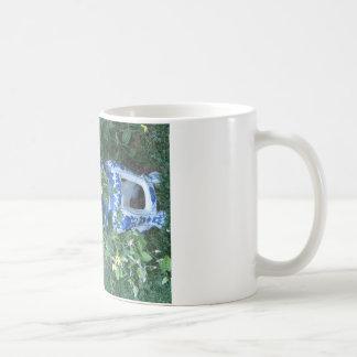 Thunbergia Black Eyed Susan Vine Blue white pot Coffee Mug