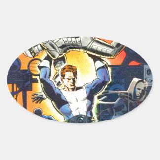 Thunder Agents Oval Sticker