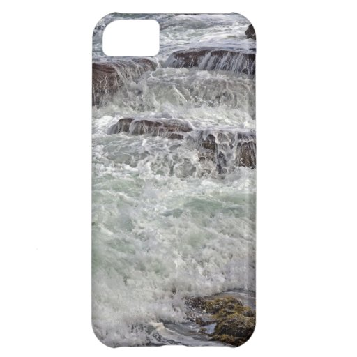 Thunder and Lace Crashing Ocean Waves iPhone 5C Cases