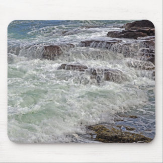 Thunder and Lace Crashing Ocean Waves Mouse Pad