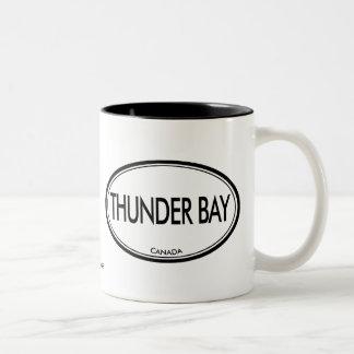 Thunder Bay, Canadá Taza De Café De Dos Colores