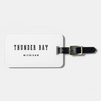 Thunder Bay Michigan Bag Tag