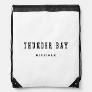 Thunder Bay Michigan Drawstring Backpack