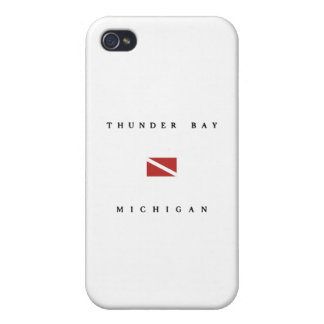 Thunder Bay Michigan Scuba Dive Flag iPhone 4 Covers